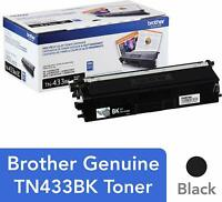Brother Genuine TN-433BK High Yield Black Toner Cartridge HL-L8260CDW L8360CDW