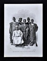 1868 Tour du Monde Print African Escort Mage Sudan Voyage Nigeria Senegal Africa