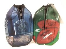Jagermeister Bottle Zipper Koozie Holder Halloween & Football 2012 Lot of (2)