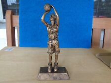 Pdu Bronzed Finish Girls Basketball Statue Trophy Award