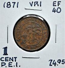 1871 Prince Edward Island One Cent EF-40