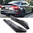 Carbon Fiber Rear Bumper Splitter Diffuser Canards For Audi S3 S4 Rs3 Rs4 A3 A4
