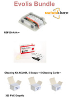 EVOLIS BUNDLE PRIMACY R5F008AAA + 300 PVC CARD + CLEANING KIT ACL001 !!