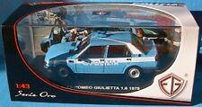 ALFA ROMEO GIULIETTA 1.6 1978 POLIZIA EDISON EG ITALIA NEW 1/43 STRADALE