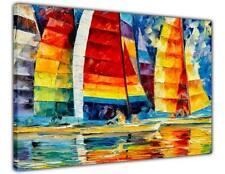 AT54378D Sea Regatta By Leonid Afremov Canvas Wall Prints Decoration Pictures