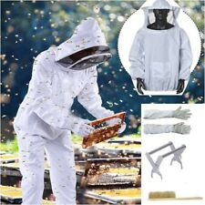 Beekeeping Suit Jacket Veil + Gloves + Bee Brush + Hive Frame Holder Tool Set