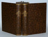 The Count Of Monte Cristo Alexandre Dumas  2 Vol Set, HB Circa 1930's (Brown)