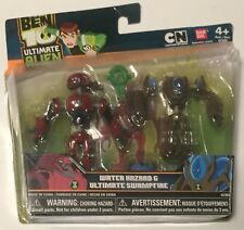 BEN 10 Water Hazard & Swampfire Ultimate Alien Creation Action Figures Bandai
