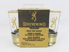 Browning Bullet 2 Pack Shot Glass Set NIB