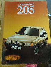 Peugeot 205 range brochure Dec 1987