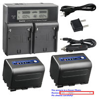 Kastar NPQM71D Battery Charger for Sony NP-QM71 NP-QM71D DCR-PC115 DCR-PC120