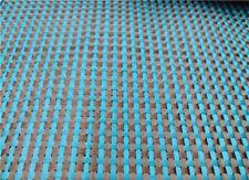 Lake Blue Aramid + Black Carbon Fiber Blended Fabric Weave Cloth 100*50cm 230gsm
