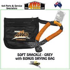 ROADSAFE 4WD ROPE SHACKLE GREY with ORANGE SHEATH WINCH 4X4 9T BONUS DRYING BAG