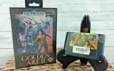 Untested Sega Genesis GOLDEN AXE II 2 w/ Case 1991 Missing the manual