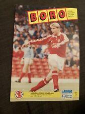 1991 Middlesbrough V Sunderland Football Programme