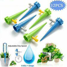 More details for 12pack plant water funnel self watering spikes slow release control valve switch