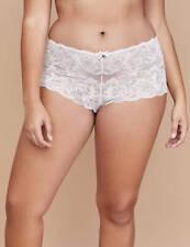 CACIQUE Lace Cheeky Boyshort Soft PINK Panties PLUS 22/24 Floral Lane Bryant NWT