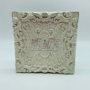 """PEACE Wall Hanging Plaque 6"""""""
