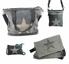 Damen Tasche Canvas Beutel M-XL Damentasche Shopper Sommertasche Stern Neu