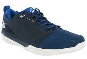 Merrell Roust Frenzy Navy Trainers Suede Leather Lightweight Mens Padded Shoes