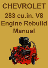CHEVROLET 283 V8 ENGINE REBUILD MANUAL