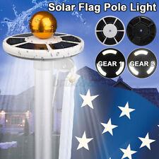 128LED Solar Powered Flag Pole Light Automatic Light Night Super Bright