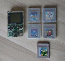 Game Boy Pocket Transparent Nintendo inkl. 5 Spiele Super Mario Land Tetris