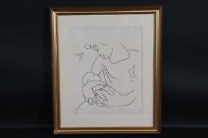 Mutter mit Säugling Lithografie Pablo PICASSO (1881-1973) (BM5972)