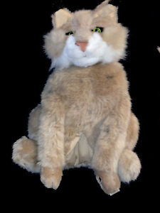 """18"""" Rare Folkmanis Cat Hand Puppet Plush Toy Excellent Condition D2"""