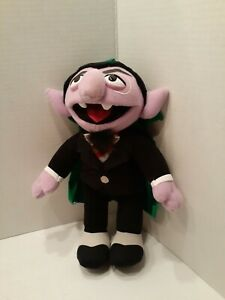 """Fisher Price Sesame Count Von Count October 2000 Plush Stuffed Toy 12 1/2"""" RARE"""