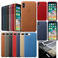 New Original Genuine PU Leather Case Cover For Apple iPhone 8 Plus X 7 6s