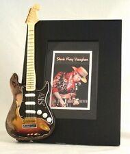 STEVIE RAY VAUGHAN  Miniature Guitar Frame SRV