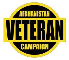 War in Afghanistan Veteran Hard Hat Decal / Label / Sticker Army Navy Marines