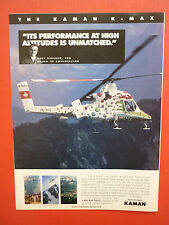 6/1996 PUB KAMAN AEROSPACE HELICOPTER HELICOPTERE KAMAN K-MAX AERIAL TRUCK AD