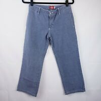 Dickies Womens jeans Pants Cropped Capri Pinstriped Size 3 Pockets