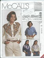 M 6961 sewing pattern Country Western SHIRT great yokes sew sizes 14-16-18 UNCUT