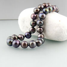 Süßwasser Perlenkette 585/14k Weißgold Schließe