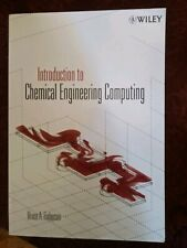 Introduction Chemical Engineering Computing Finlayson