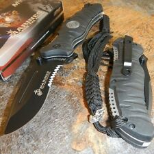 USMC MARINES Drop Point Serrated MILITARY TACTICAL Folding Pocket Blade Knife