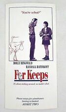 For Keeps 1988 Movie Screening Ticket Pass  - Molly Ringwald - Vintage 1980s