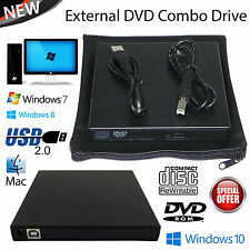 Portable USB 2.0 ESTERNO CD / DVD ROM DRIVE LETTORE PER LAPTOP NOTEBOOK NETBOOK PC