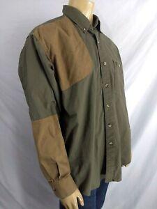 Browning Firearms Super Naturals Shooting / Hunting Shirt Mens XL Green Brown LS
