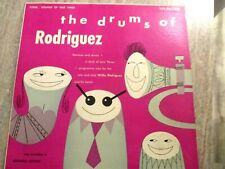 """WILLIE RODRIGUEZ-""""THE DRUMS OF RODRIGUEZ"""" 1953 10"""" MAMBO LP-33 1/3"""