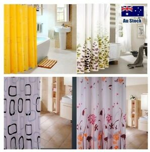 Shower curtain new polyester fabric mildew-free durable  free shipping post
