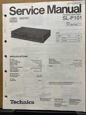 Original Service Manual for the Technics SL-P101 CD Player ~ Repair