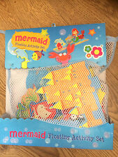 Meadow Kids Mermaid Bath Time Stickers x17 pieces Educational Toy with Blue Net