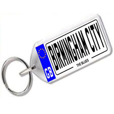 "NUMBER PLATE KEYRING FOR FOOTY FANS ""BIRMINGHAM CITY"""
