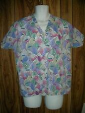 Scrub Top by Hice with Lady Bug Grasshopper Bees Small
