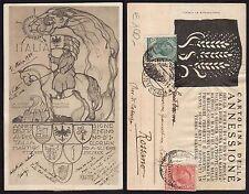 STORIA POSTALE REGNO 1920 Cartolina Annessione Trento per Rossano (FB9)