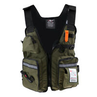 Life Jacket Vest for Fishing Surfing Sailing Boating Swimming Safety Gear Green